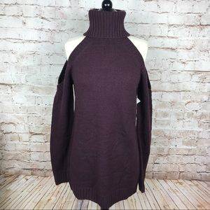 NWT Tobi Cold Shoulder Sweater Tunic Dress Size S